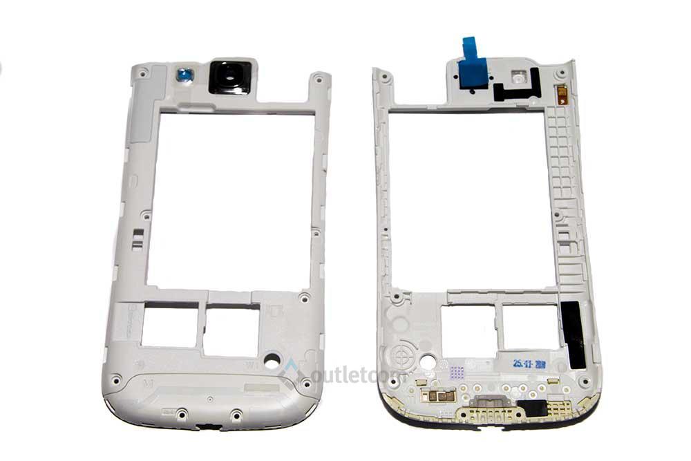 301d03f2545 Carcasa Intermedia Blanca Nueva Original para Samsung Galaxy S3 Neo ...